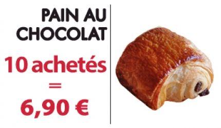 OFFRE 10 PAINS AU CHOCOLAT