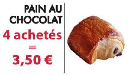 4 PAINS AUX CHOCOLATS